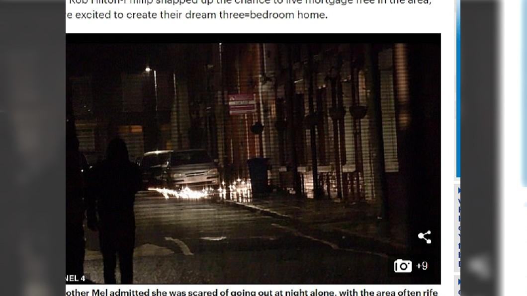 到了晚上,不肖份子出沒街道,讓社區安全亮起紅燈。圖/翻攝自「每日郵報」
