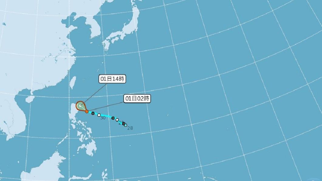 圖/中央氣象局 熱帶性低氣壓將進入巴士海峽 專家:成颱機率降低