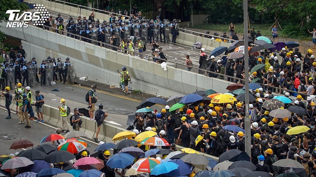 圖/中央社 香港太陽花引發中英論戰 一次看懂
