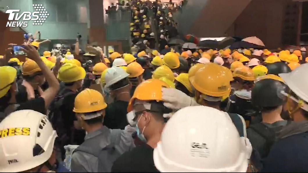 圖/TVBS 快訊/總統府:香港政府須拿誠意回應人民訴求