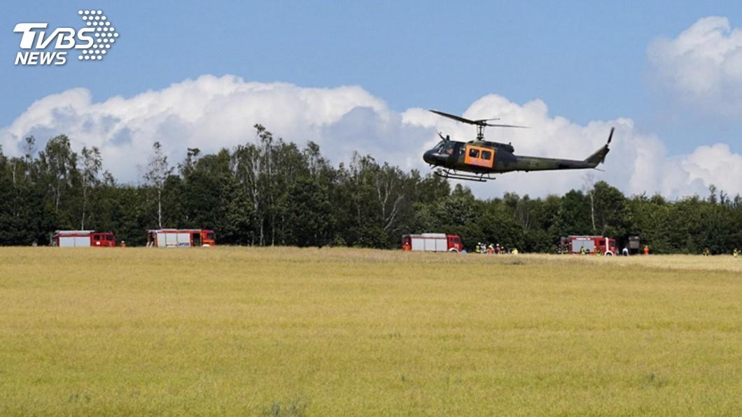 圖/達志影像美聯社 1週內第2起意外 德國軍用直升機墜毀1死1傷