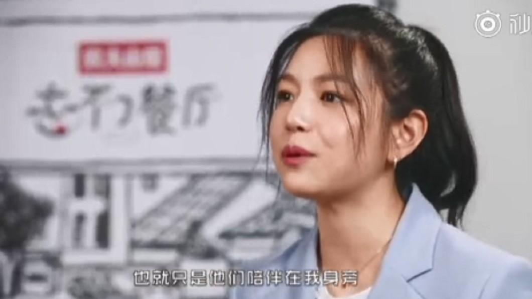 陳妍希在節目上表示自己一輩子都不想忘記老公和孩子。圖/截自騰訊視頻