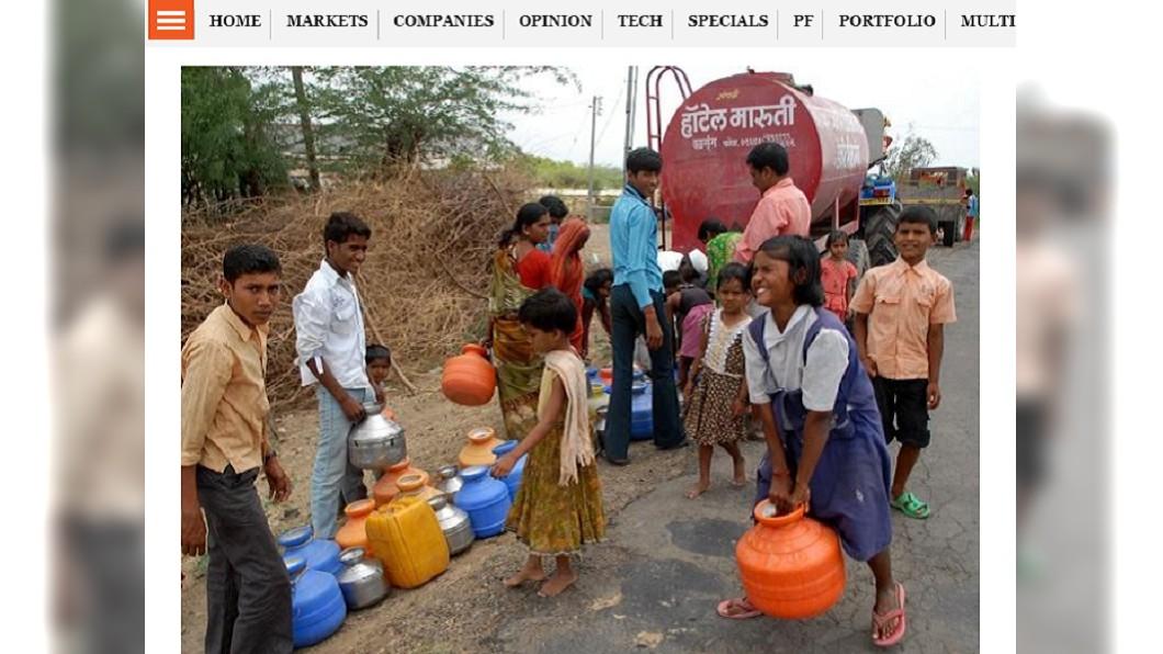 全家大小都要在僅限的時間內幫忙取水。圖/截自Business Standard