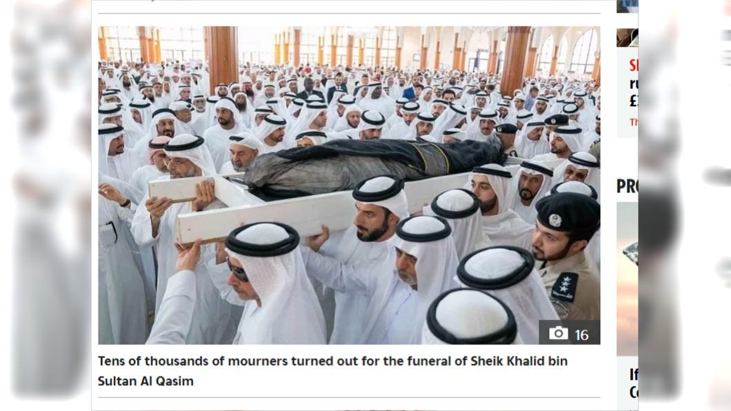 阿拉伯聯合大公國沙迦王子暴斃。圖/翻攝自太陽報 阿聯王子開趴嗨過頭 嗑藥暴斃恐「斷繼承人」