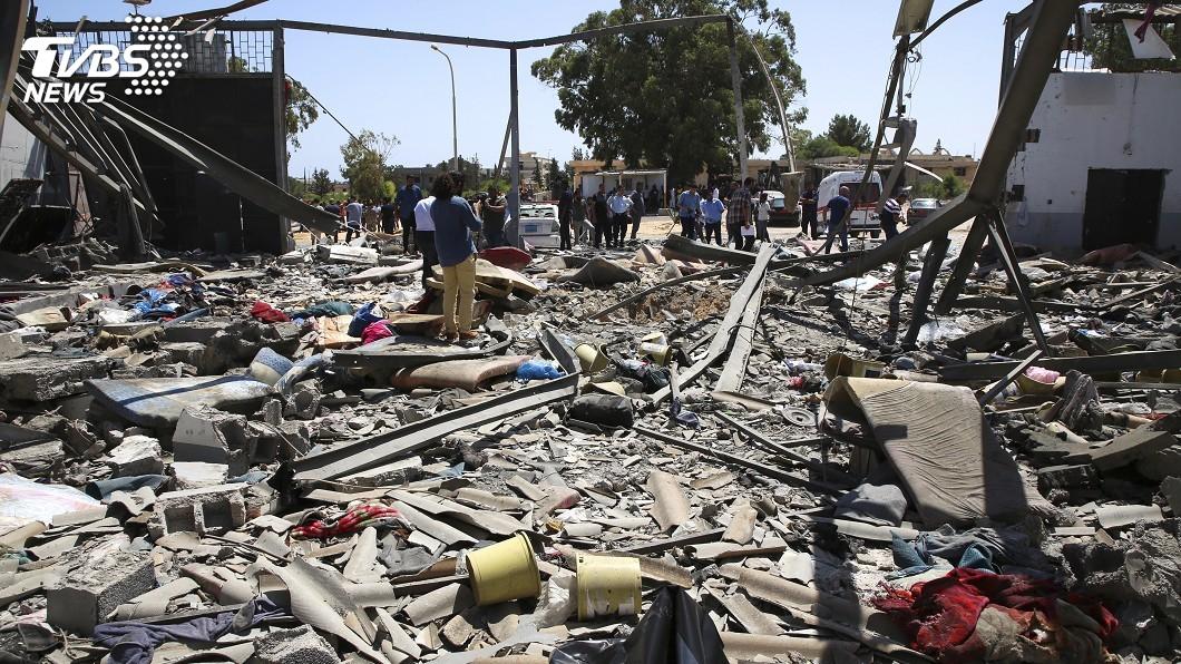 圖/達志影像美聯社 利比亞拘留中心空襲釀44死 UN:可能構成戰爭罪