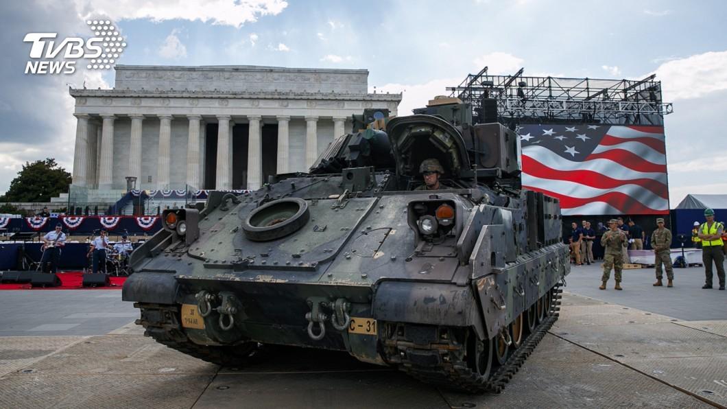 圖/達志影像美聯社 華府街頭出現坦克車! 川普國慶日搞閱兵