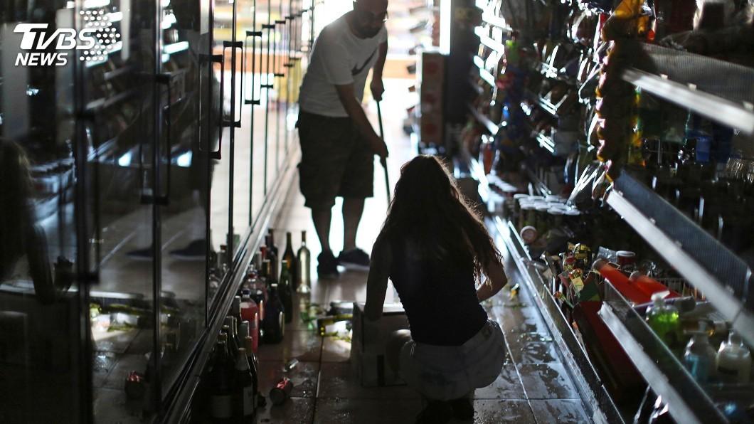 圖/達志影像路透社 南加州6.4強震 當局處理至少24起事故