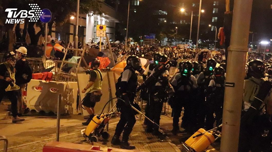 圖/中央社 緊咬香港問題 英外相韓特:不排除制裁中國