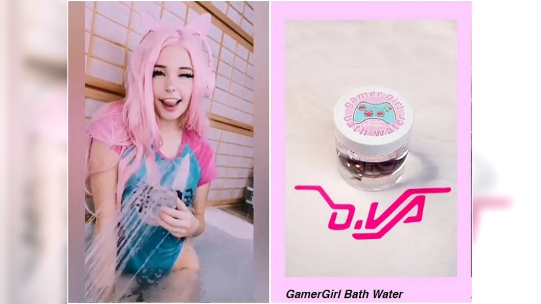第一批泡澡水已經賣完,第二批應該很快就會再上架。圖/翻攝belle.delphine IG
