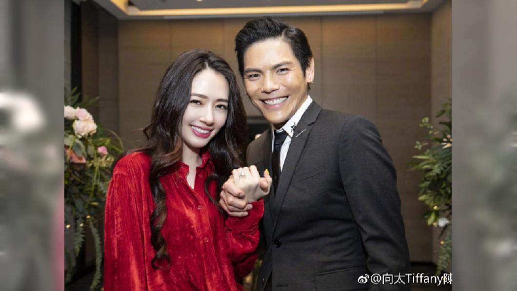 向佐與郭碧婷預計年內成婚。圖/翻攝向太Tiffany陳嵐微博