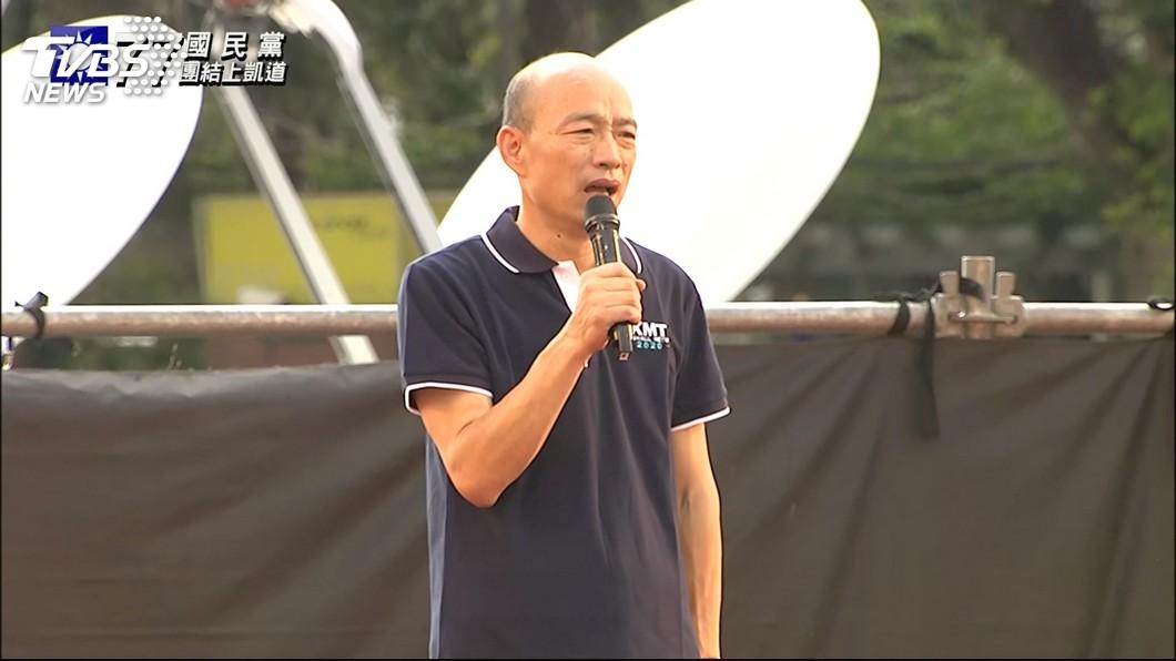韓國瑜提出徵、募兵並行。圖/TVBS 韓國瑜提徵、募兵並行 酸「辣台妹」為選票討好年輕人