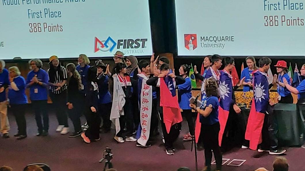 圖/駐雪梨台北經濟文化辦事處提供 樂高機器人亞太區域賽 鹿港高中、林園國小獲殊榮