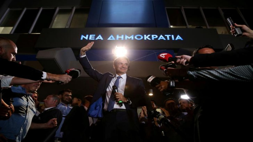 圖/達志影像路透 希臘變天!中間偏右勝選 新總理出線