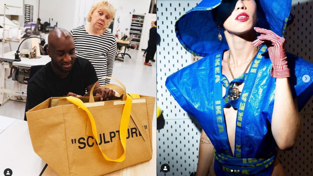 這款購物袋除了與藝術家合作,也吸引創意人士改造。圖/翻攝自IG@ikeatoday(左) @freakydebbie(右)