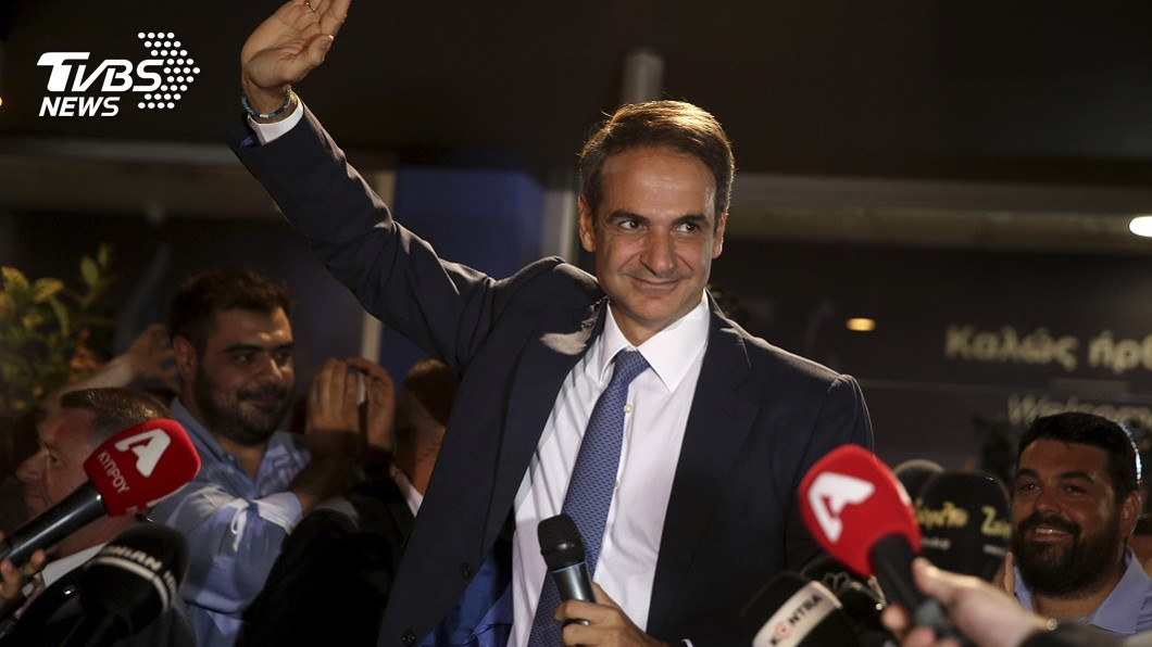圖/達志影像美聯社 希臘大選右派勝選 銀行家將出任新總理