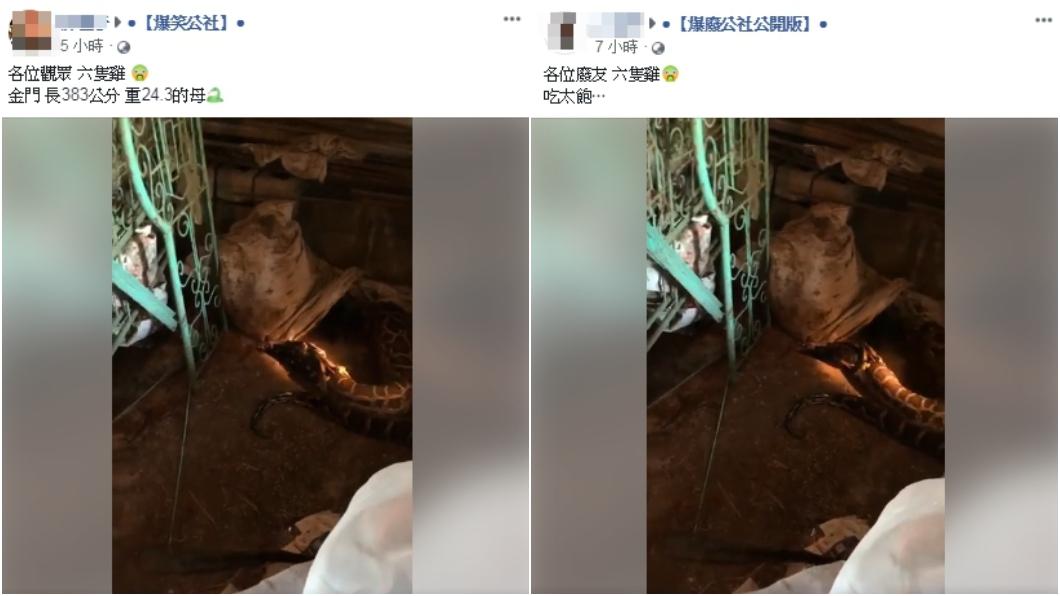 影片在臉書「爆廢公社公開版」與「爆笑公社」由管理員發布。圖/翻攝臉書