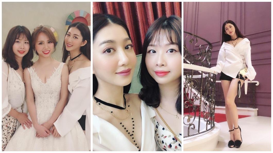 王晴日前出席好姊妹的婚禮,她的穿著讓網友大讚高衣Q。(圖/翻攝自王晴臉書)