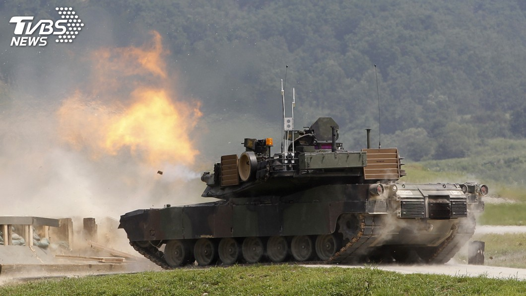 圖/達志影像路透社 美國售台M1A2戰車 次型號「T」代表Taiwan