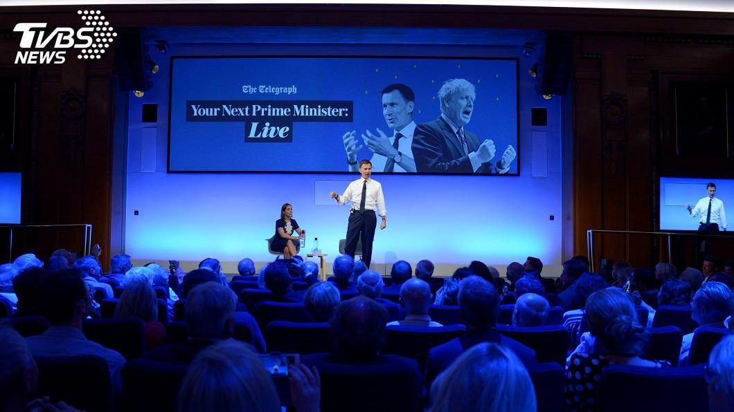 圖/達志影像路透社 英國首相之爭 強生、韓特激辯脫歐