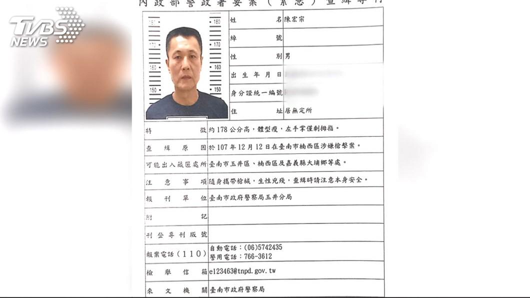 陳宏宗遭警方發布通緝。(圖/TVBS)