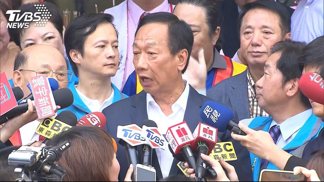 圖/TVBS 媒體指民調落後韓國瑜 郭台銘:我絕對不相信