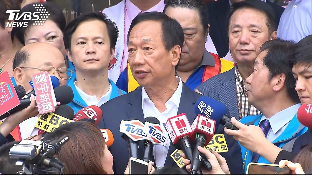 圖/TVBS 主張徵富人稅 郭台銘:當選總統第1個查賴正鎰的稅