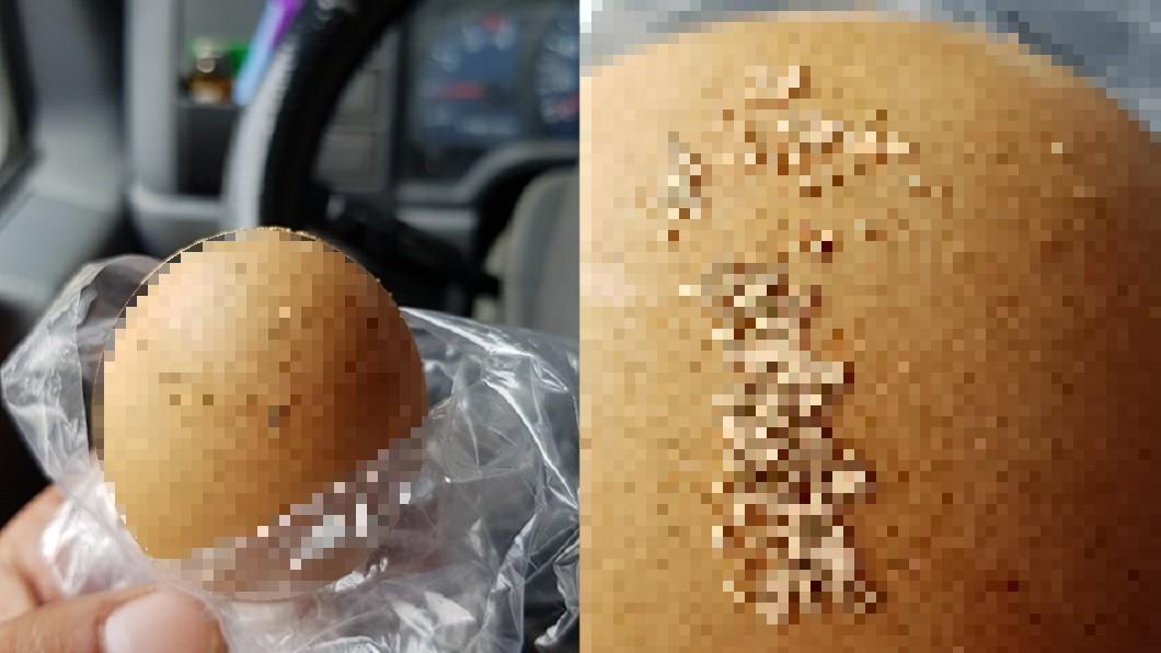 圖/翻攝自 爆廢公社公開版 蛋殼黏「密集蟲卵」嚇壞送蛋司機 雞農專業解惑