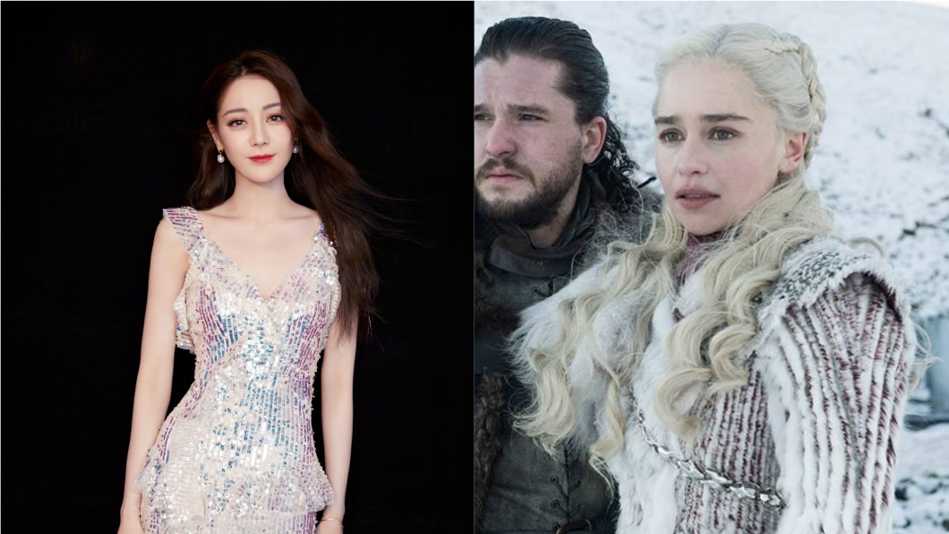 有人認為這名小學生神似女星迪麗熱巴,以及影集冰與火之歌裡的龍母。圖/翻攝自微博、HBO Asia臉書