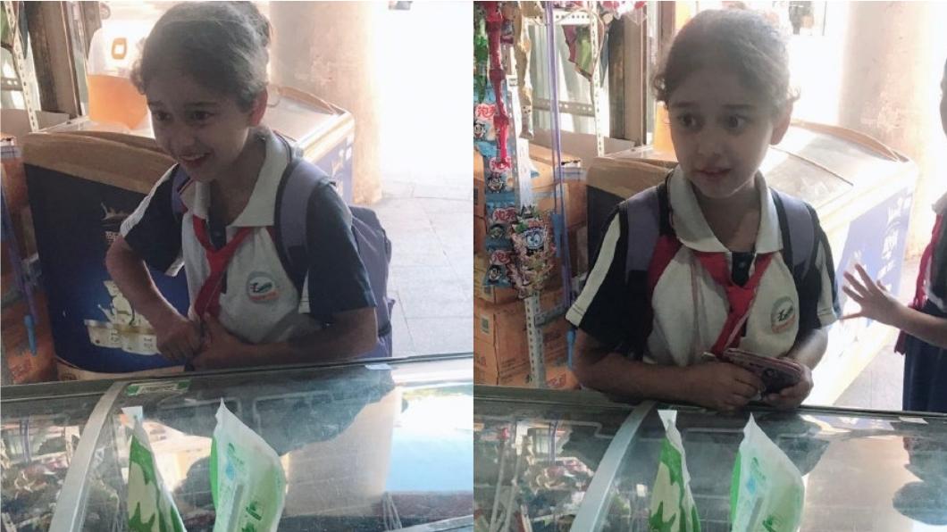 新疆小學生的逆天顏值,在網路上掀起熱議。圖/翻攝自微博 這地區小學生顏值超高 甜美笑容讓網友暴動瘋傳