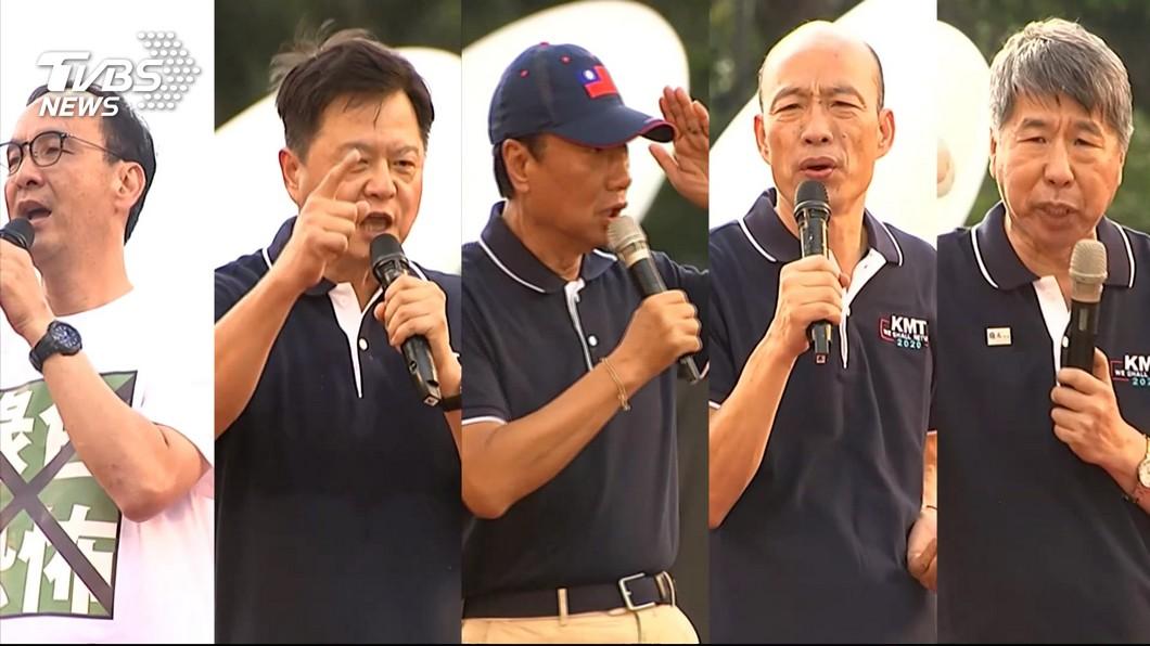 國民黨現在正進行黨內初選民調。(圖/TVBS)