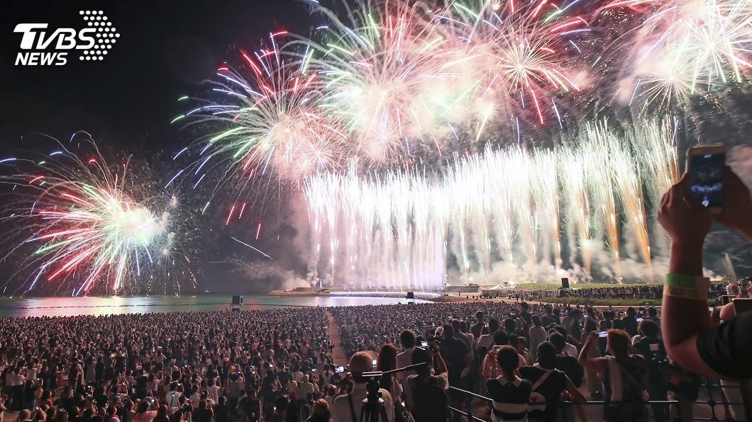圖/達志影像美聯社 京都煙火大會絢爛絕美 祝賀令和新時代來臨