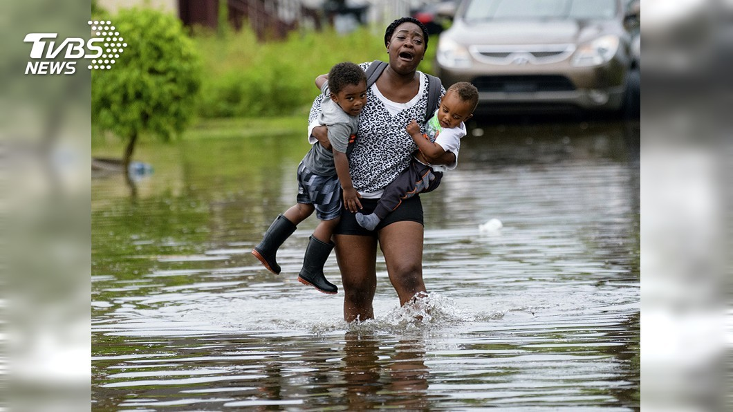 圖/達志影像美聯社 超大颶風周末來襲! 美國紐奧良淹水成災
