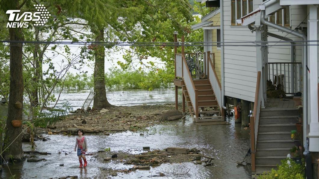 圖/達志影像美聯社 今年首個颶風逼進紐奧良 洪水威脅升高