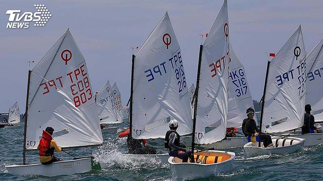 圖/中央社 台灣盃全國帆船賽 澎湖觀音亭海域舉行