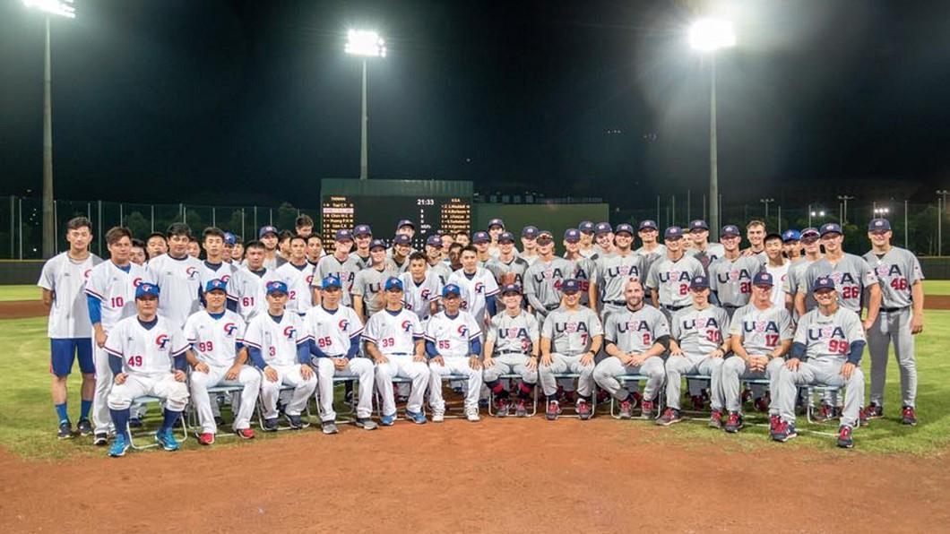 圖/中華棒協提供 中華1勝2敗NCAA明星隊 出發荷蘭參與港口盃