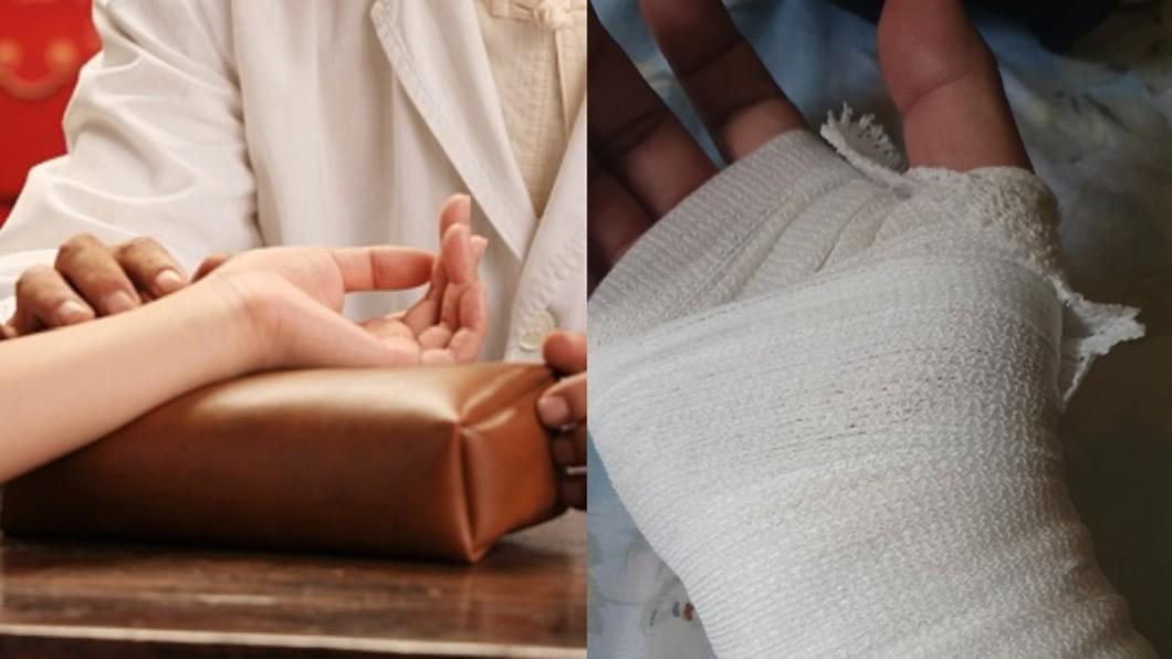 左圖/TVBS示意圖。右圖/翻攝自爆廢公社二館 手扭傷就醫!中醫師一把脈秒問「這句」 他慘遭全場鄙視