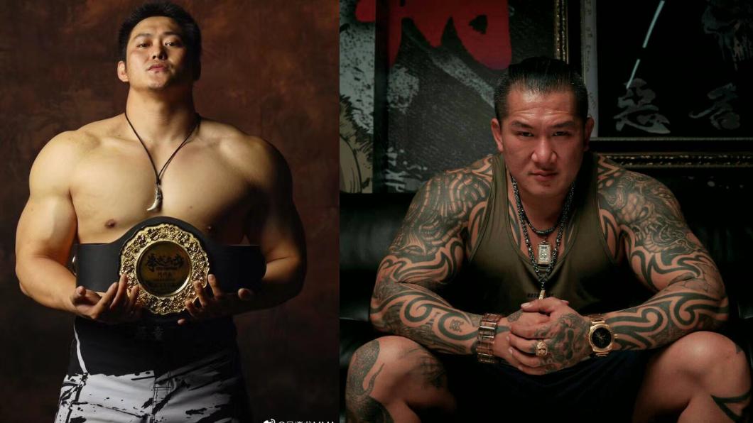 大陸業餘格鬥聯盟的重量級冠軍吳紫龍(左)、館長陳之漢(右)。翻攝/微博、臉書 挑戰者又+1!批館長「台獨份子」 陸拳手嗆:你跟我打