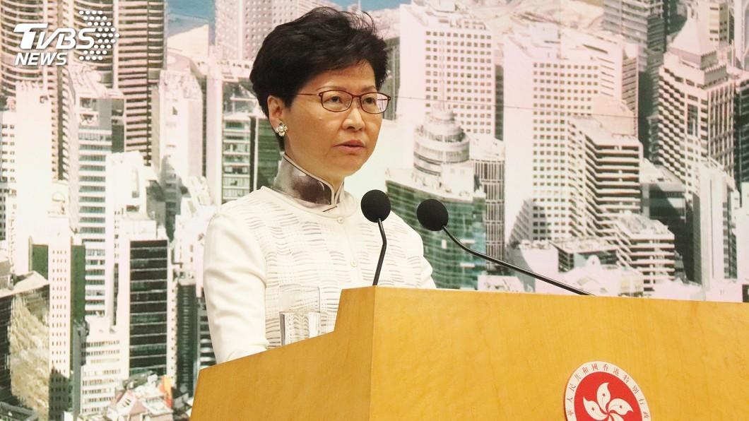 圖/中央社 反送中示威持續近2個月 林鄭哽咽:籲各方放下分歧
