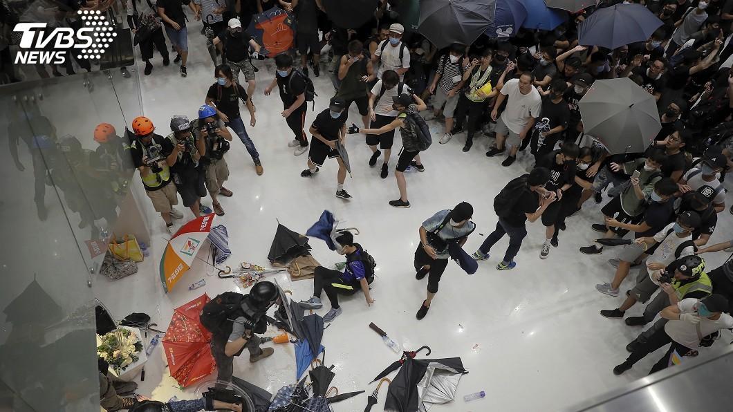 圖/達志影像美聯社 香港反送中警民暴力衝突 民陣強烈擔憂