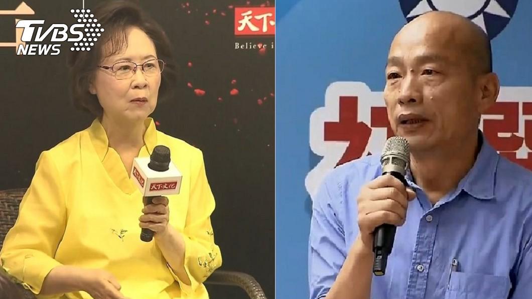 作家瓊瑤(左)、高雄市長韓國瑜(右)。圖/TVBS資料照 韓國瑜初選勝出 瓊瑤狂賀自爆:做這件事挺韓「像瘋子」