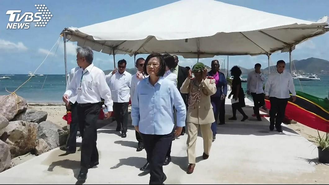 圖/TVBS 蔡總統出訪時中國宣布軍演 外交部:勿過度揣測