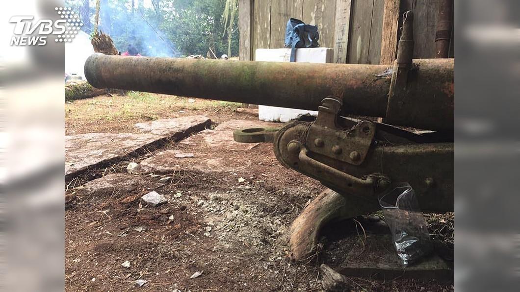 圖/中央社 測繪八通關駐在所 速射砲見證布農族歷史傷痛