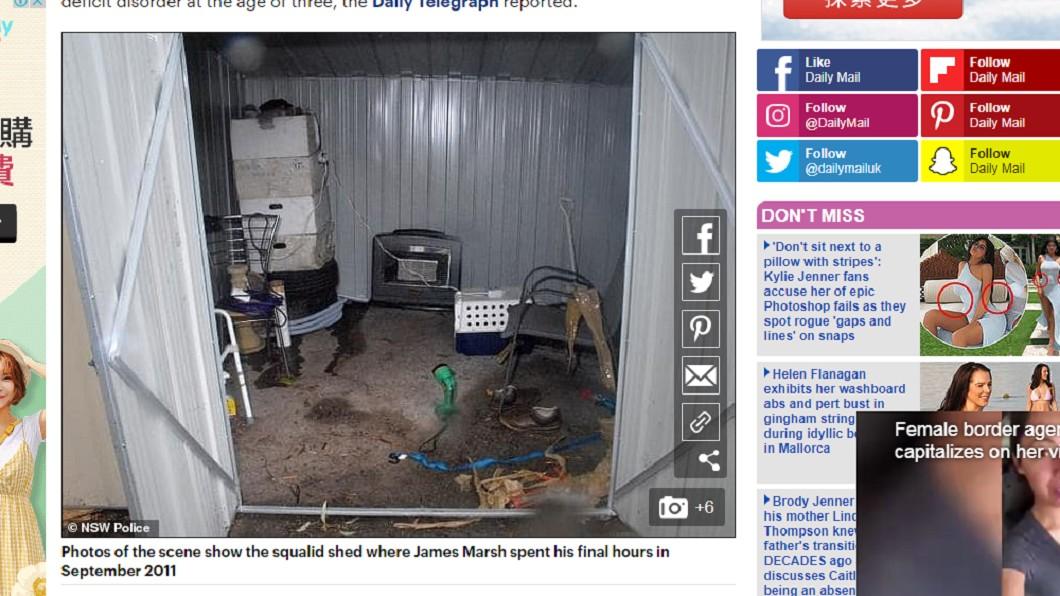 詹姆斯最後被活活凍死在屋外。圖/翻攝自每日郵報