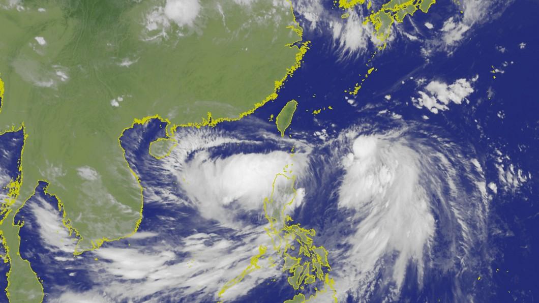 圖/中央氣象局 颱風丹娜絲分裂 高層雲系可能成熱帶低壓