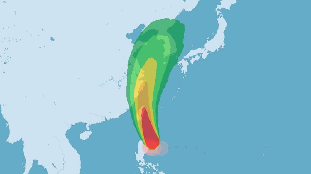 圖/中央氣象局 颱風丹娜絲來襲 經部應變小組二級開設