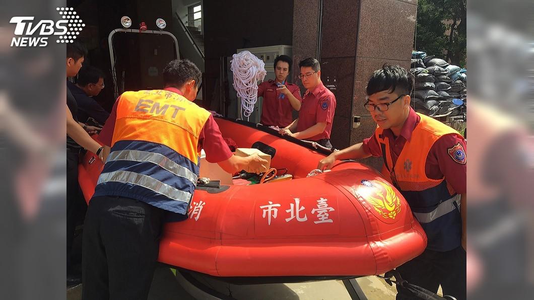 圖/中央社 颱風丹娜絲來襲 北市消完成防颱整備