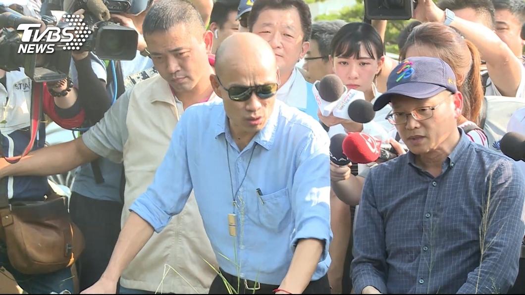 圖/TVBS 快訊/高市降大雨 韓國瑜17:00視察七賢抽水站