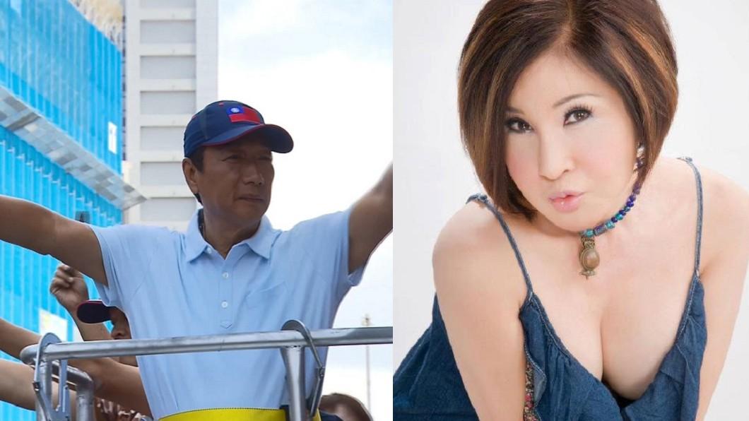 圖/(左)TVBS(右)翻攝自感恩恬娃FB 郭台銘初選慘輸韓國瑜 恬娃情緒崩潰就醫