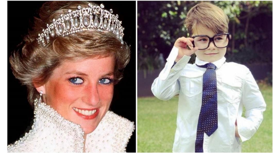 合成圖/翻攝Diana, Princess of Wales 1961-1997臉書、davidcampbell73 IG 黛安娜王妃轉世? 4歲男童看照片:那時我還是王妃!