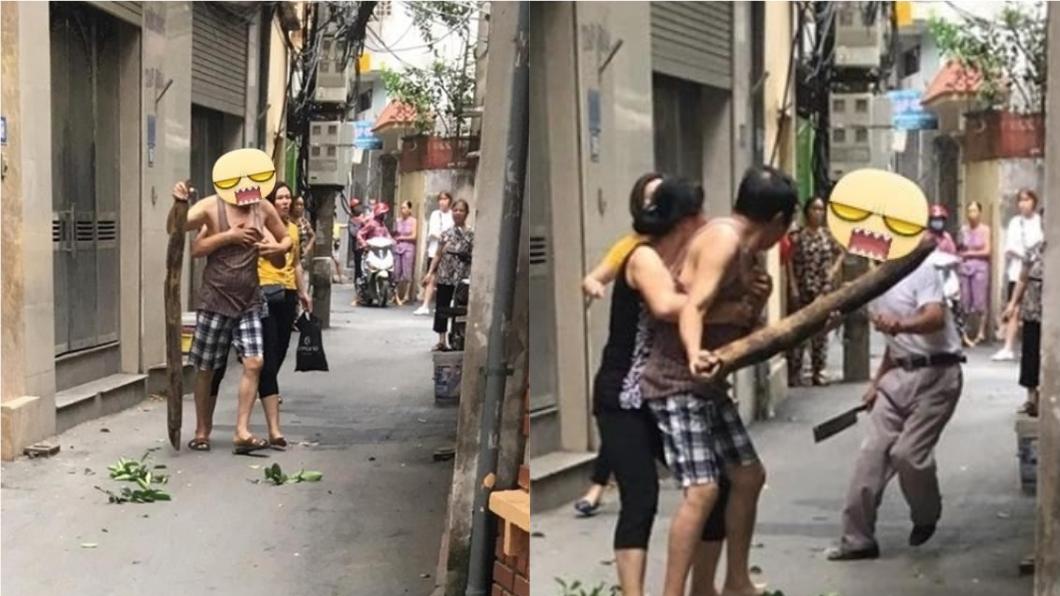圖/翻攝自中國報 兒考輸鄰居1分被笑 2父氣不過互持刀棍決鬥